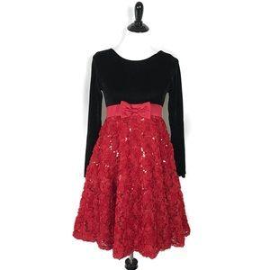 Bonnie Jeans Girls Dress Velvet Sequin Holiday